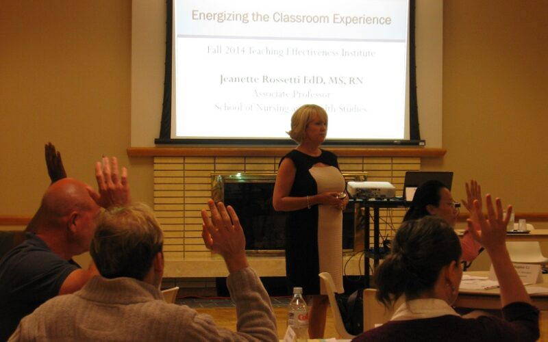 Jeanette Rossetti presenting at TEI