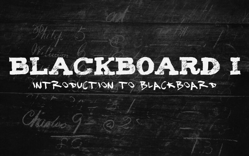 Blackboard I: Introduction to Blackboard