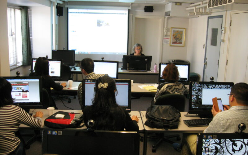 workshop in computer lab