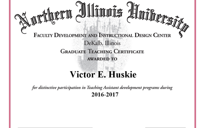 graduate teaching certificate