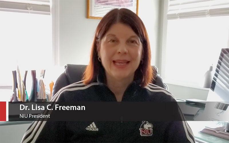 President Freeman video