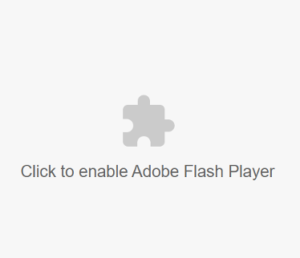 Enable Adobe Flash image