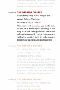 the missing course book cover